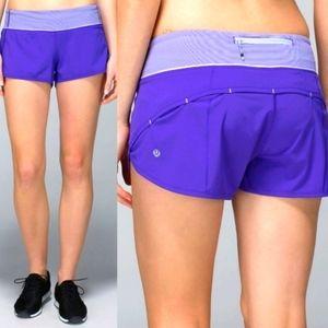Size 4 Lululemon Speed Shorts in Potion Purple